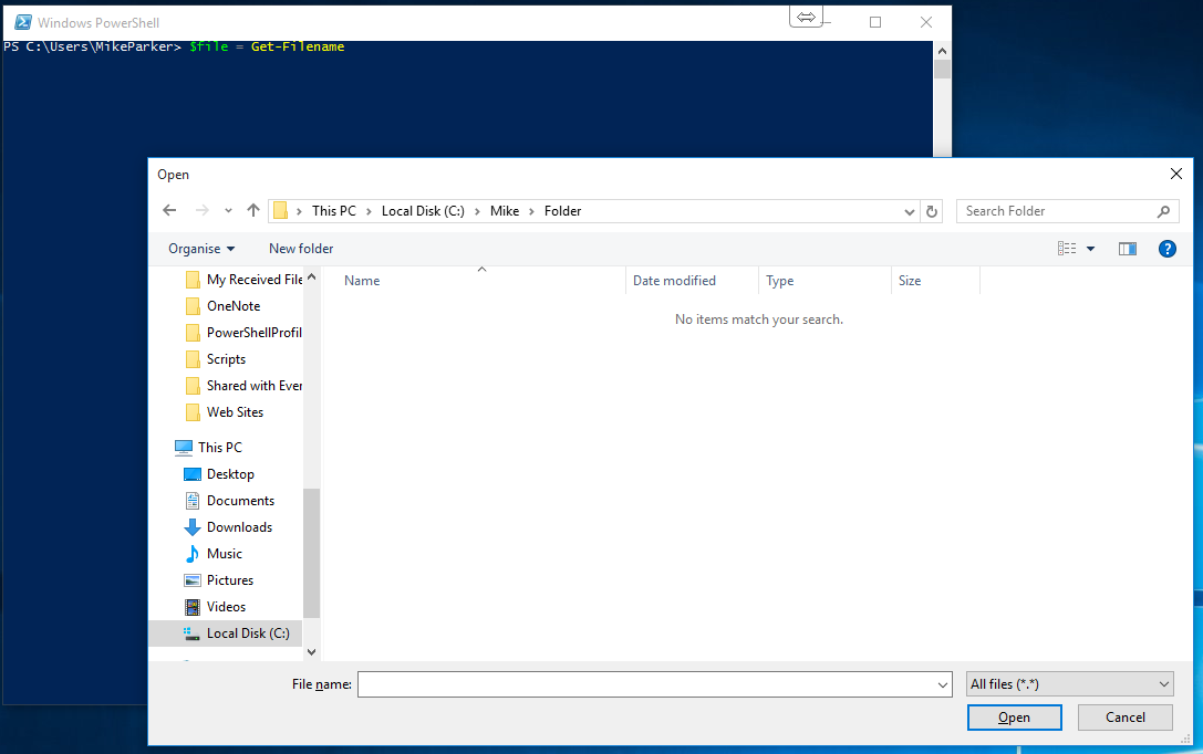 Opening Documents with a File Explorer window using PowerShell