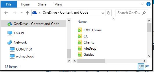 how to change default folder for onedrive